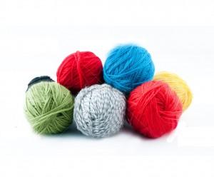 Colorful ball of yarn